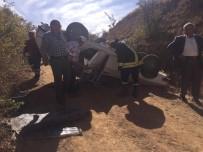 Isparta'da Otomobiliyle Şarampole Uçan Sürücü Yaralı Olarak Kurtarıldı