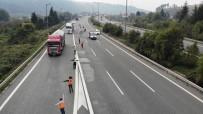 TEM Otoyolu Bolu Dağı Yol Çalışması Nedeniyle Kapatıldı