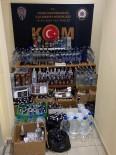 Manisa'da 350 Şişe Sahte İçki Ele Geçirildi