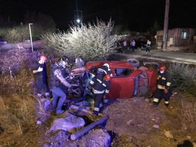 Konya'da 2 Otomobil Çarpıştı Açıklaması 9 Yaralı