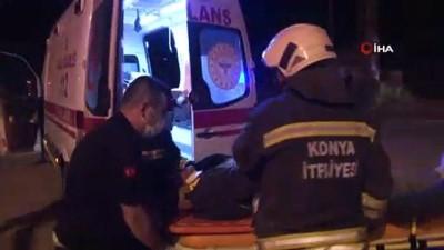 Konya'da İki Otomobil Çarpıştı Açıklaması 9 Yaralı