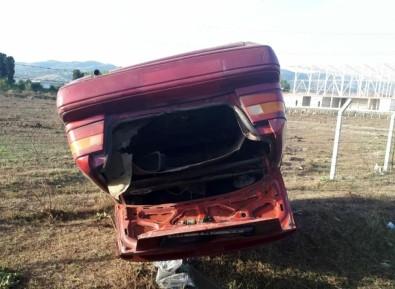Samsun'da Otomobil Şarampole Yuvarlandı Açıklaması 1 Yaralı