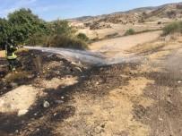 Kula'da Çıkan Anız Yangını Korkuttu