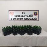 Gökçeada'da 105 Litre Kaçak İçki Ele Geçirildi
