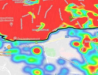 İstanbul koronavirüs haritasındaki görüntü hayrete düşürdü!