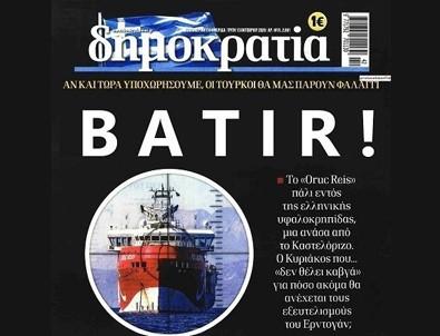 Yunan gazetesinden alçak manşet!