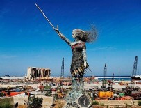 LÜBNAN - Acının heykelini yaptılar!
