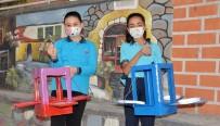 Öğrenciler Belediyenin Desteğiyle Atık Malzemelerden Kuş Yuvası Yaptı