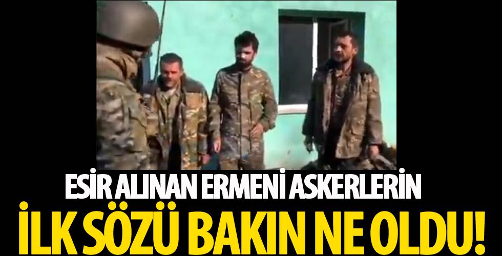 Azerbaycan ordusunun esir aldığı Ermeni askerlerin ilk sözü o oldu...