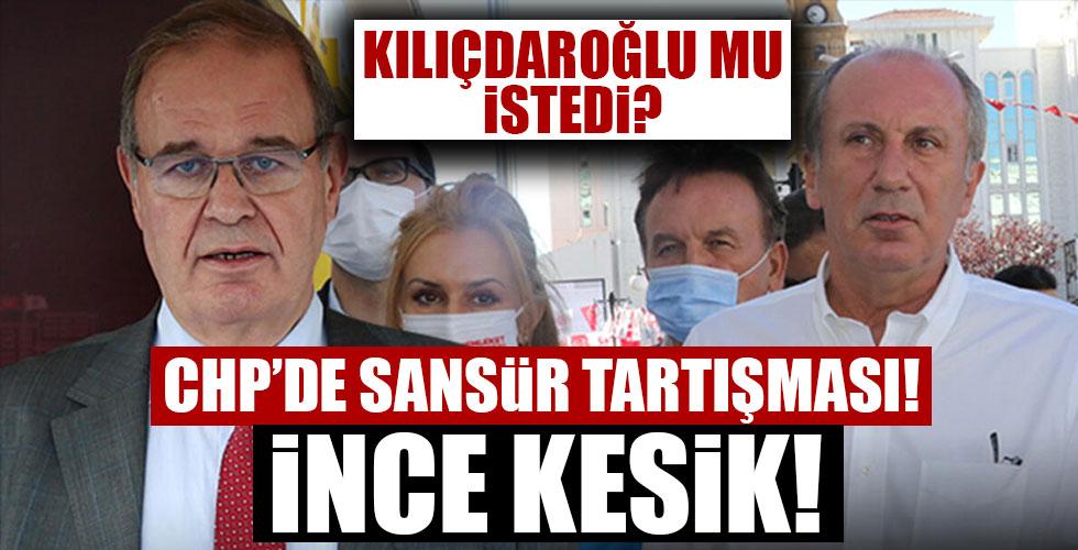 CHP'de sansür tartışması! İnce'nin fotoğrafı kesildi mi?