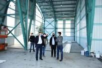 İnönü'de Pazar Yerinin Dış Cephe Kaplama Çalışmaları