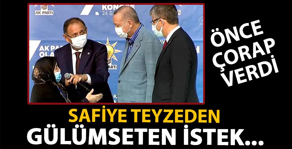 Safiye Teyze'den gülümseten diyalog! Başkan Erdoğan'dan bunu istedi...