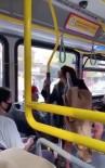 Yüzüne tüküren kadını iterek otobüsten attı