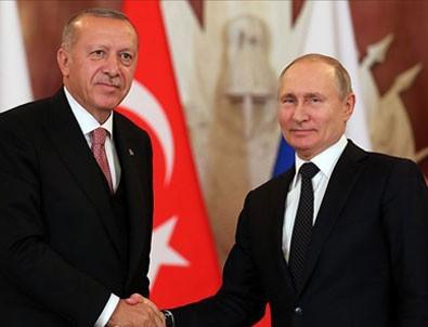 Başkan Erdoğan Rusya Devlet Başkanı Putin ile görüştü!