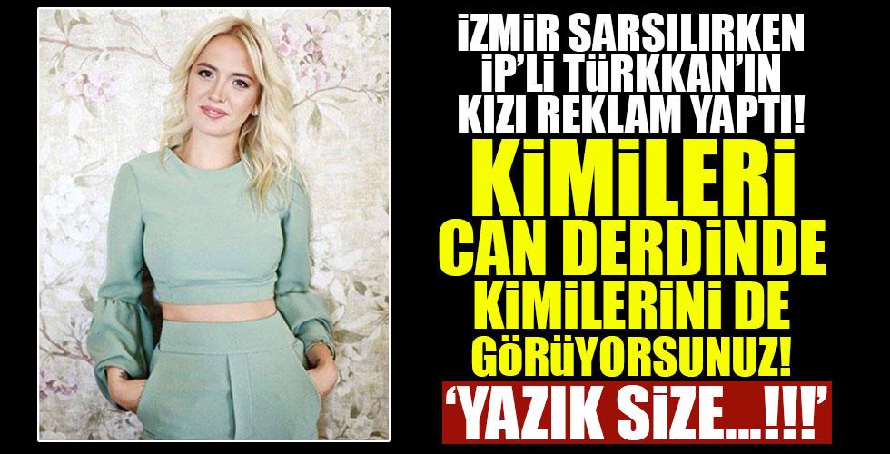 Lütfi Türkkan'ın kızı internetten reklam yaptı!