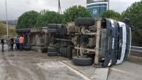 Samsun'da Katı Atık Transfer Aracı Tır Devrildi Açıklaması 1 Yaralı