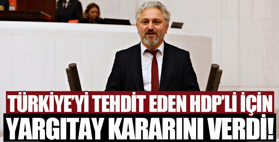 Yargıtay, HDP'li vekilin yargılanmasının yolunu açtı
