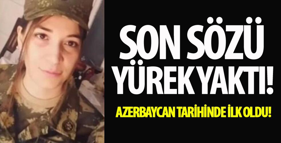 Azerbaycan tarihinde bir ilk oldu! Son sözleri yürek yaktı...