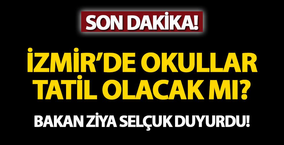 İzmir'de depremin ardından okullar tatil olacak mı? Milli Eğitim Bakanı Ziya Selçuk'tan son dakika açıklaması