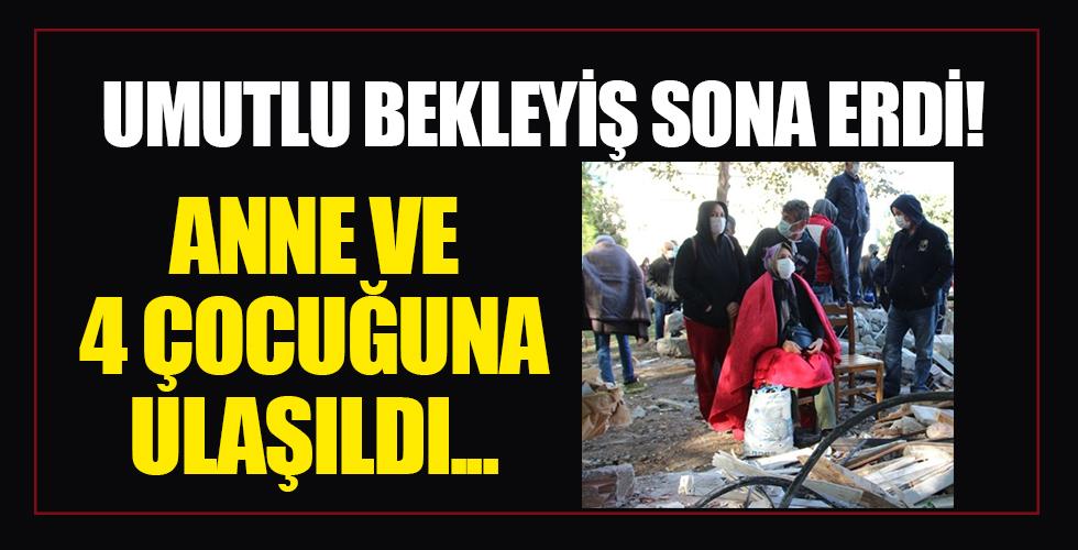İzmir'deki Doğanlar Apartmanı'ndan sevindiren haber geldi! Anne ve 4 çocuğuna ulaşıldı
