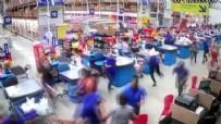 BREZILYA - Süpermarket rafları domino taşı gibi devrildi: 1 ölü, 8 yaralı