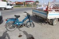 Motosiklet Kamyonete Yandan Çarptı Açıklaması 1 Yaralı