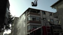 Boş Arsada Başlayan Yangın, Binanın Çatısına Kadar Sıçradı