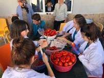 Manyas'ta Öğrenciler Salça Üreterek Para Kazandı