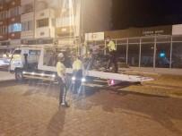Burhaniye'de Motosikletlere Gece Denetimi