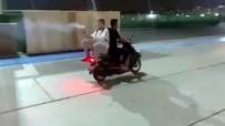 (Özel) İstanbul'da Havai Fişekli Motosikletli Magandalar Kamerada