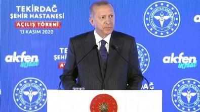 Cumhurbaşkanı Erdoğan Tekirdağ Şehir Hastanesi'nin açılışında konuştu