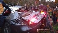 Düzce'de Otomobil Fındık Bahçesine Uçtu Açıklaması 4 Yaralı