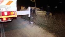Adana'da Otomobil Şarampole Devrildi Açıklaması 1 Yaralı