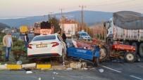 Uşak'ta Trafik Kazası; 1'İ Çocuk 4 Yaralı