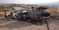 Amasya'da Otomobil Yangını