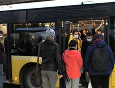 İstanbul'da metrobüste tıka basa yolculuk!