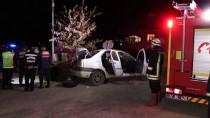 Kastamonu'da Otomobil Bariyerlere Çarptı Açıklaması 1 Ölü, 2 Yaralı