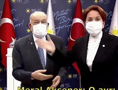 Karamollaoğlu Akşener'i ele verdi!