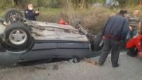 Burhaniye'de Otomobilde Sıkışan Sürücüyü İtfaiye Kurtardı