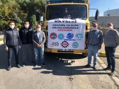Kayseri'den İzmir'e Battaniye Yardımı