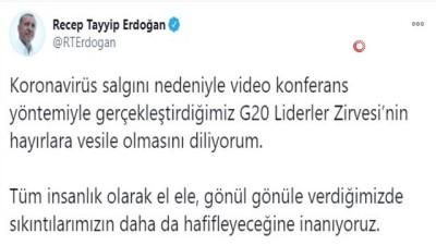 Cumhurbaşkanı Erdoğan, G20 Liderler Zirvesi'ne Canlı Bağlantıyla Katıldı Açıklaması