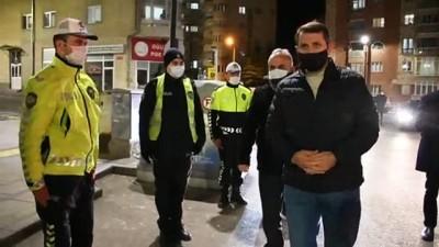 Sivas Valisi Ayhan, Uygulama Noktalarında Sokağa Çıkma Yasağını Denetledi