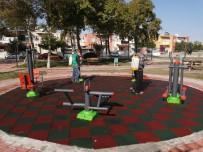 Ceyhan'da Çocuk Oyun Parkları Dezenfekte Ediliyor
