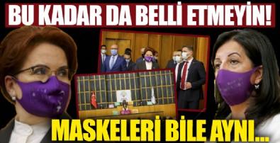 Meral Akşener ve Pervin Buldan, grup toplantılarına aynı maskeyle geldi!
