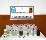Susurluk'ta Jandarmadan Kaçak İçki Operasyonu