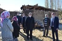 Başkan Özkan Altun'dan Ahırı Yanan Aileye Geçmiş Olsun Ziyareti
