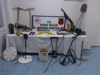 Yozgat'ta Evin İçinde Kaçak Kazı Yapan 5 Kişi Gözaltına Alındı