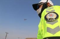 Ağrı'da Trafik Denetimleri Helikopter Ve Drone Yardımıyla Gerçekleştirildi