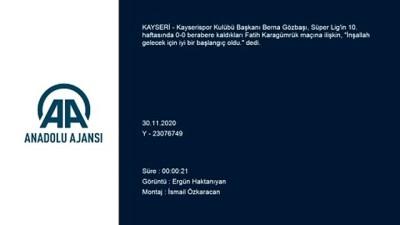Kayserispor Kulübü Başkanı Gözbaşı Açıklaması 'İnşallah Gelecek İçin İyi Bir Başlangıç Oldu'
