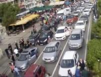 KARŞIYAKA - İzmir Büyükşehir Belediyesi, depremde kent kameralarınca kaydedilen görüntüleri paylaştı